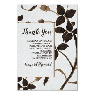 Obrigado fúnebre das folhas do Sable você cartões