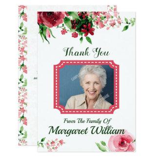 Obrigado fúnebre você cartão com fotos