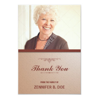 Obrigado fúnebre você cartão com fotos convite 8.89 x 12.7cm