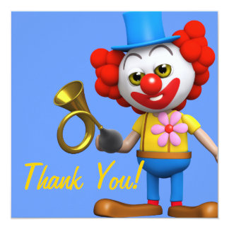 Obrigado! Honk do Honk do palhaço Thankyou Convites Personalizados