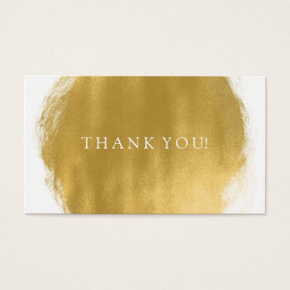 Obrigado introduz o olhar da pintura do ouro cartão de visitas