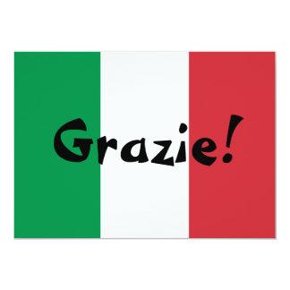 Obrigado italiano da bandeira você convite 12.7 x 17.78cm
