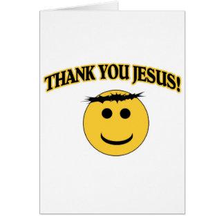 Obrigado Jesus Cartão Comemorativo