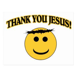 Obrigado Jesus Cartão Postal