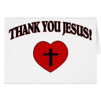 Obrigado Jesus (o coração) Cartão Comemorativo