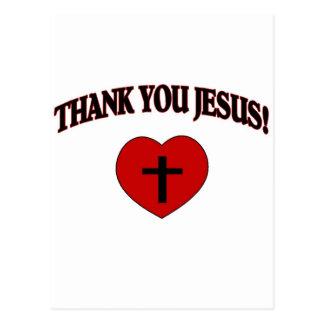 Obrigado Jesus (o coração) Cartão Postal