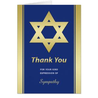 Obrigado judaico da simpatia você cartão de nota