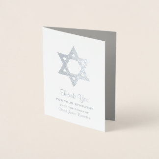 Obrigado judaico da simpatia você estrela David da Cartão Metalizado
