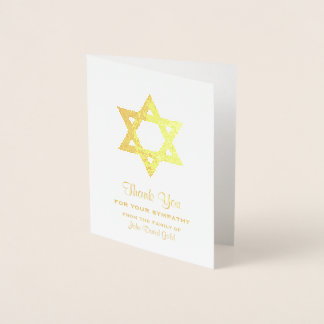 Obrigado judaico da simpatia você estrela de David Cartão Metalizado