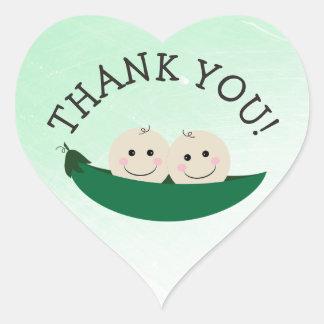 Obrigado junta etiquetas verdes de Peapod