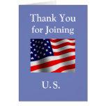 """""""Obrigado juntando-se cidadão americano novo aos Cartão Comemorativo"""