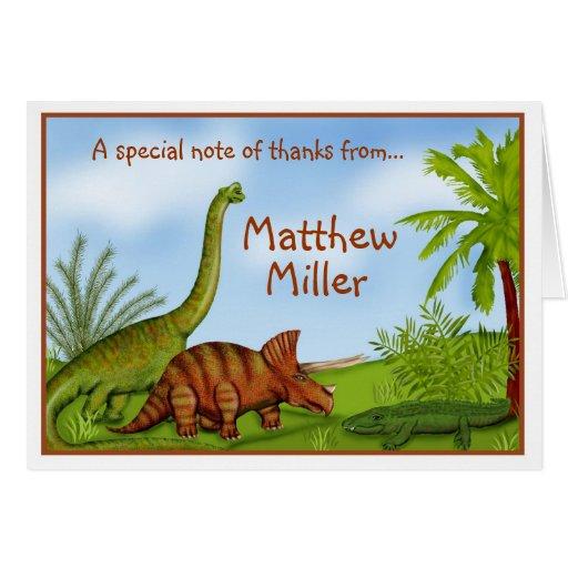 Obrigado jurássico da selva do dinossauro você car cartoes