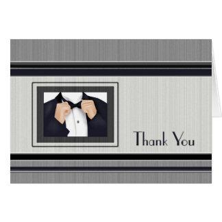 Obrigado lado dos noivos da festa de casamento cartão comemorativo