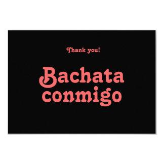 Obrigado Latin da dança de Bachata Conmigo você Convites Personalizado