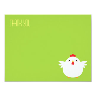 Obrigado liso da galinha dos desenhos animados | convite 10.79 x 13.97cm