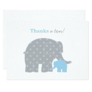 Obrigado liso do elefante você cartão de nota |