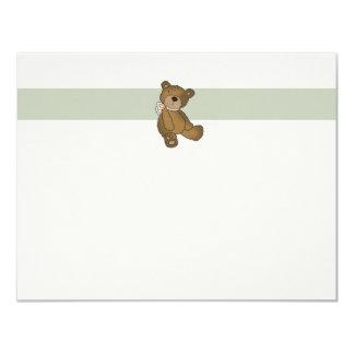 Obrigado liso do urso do bebê você Notecard Convite 10.79 X 13.97cm