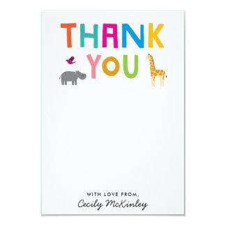 Obrigado liso dos animais africanos você cartão de convite 8.89 x 12.7cm