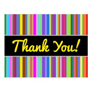 """""""Obrigado!"""" + Listras do vário cartão das cores"""