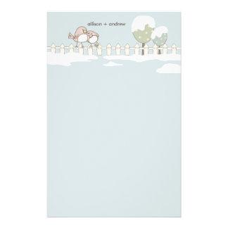Obrigado lunático do casamento no inverno você cab papel personalizado