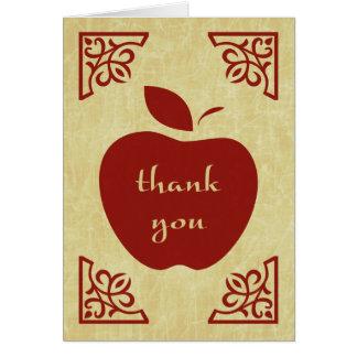 obrigado maçã elegante cartão