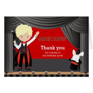 Obrigado mágico da mostra você cartão comemorativo