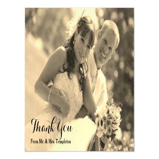 Obrigado magnético da foto do casamento você
