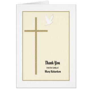 Obrigado memorável cristão vazio você cartão de