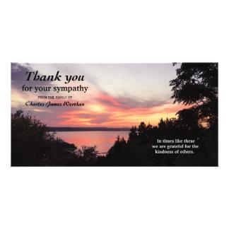 Obrigado memorável da simpatia do por do sol cartão