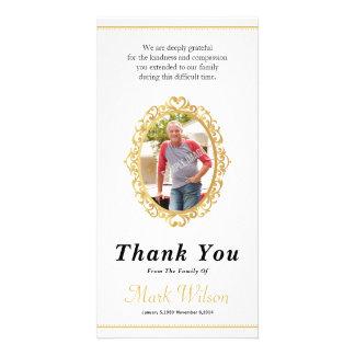 Obrigado memorável você cartão com fotos