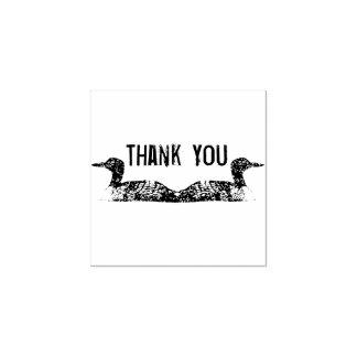 Obrigado mergulhões-do-norte carimbo de borracha