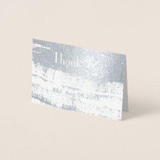 Obrigado minimalista do casamento dos cursos cartão metalizado