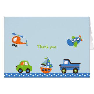 Obrigado minúsculo do transporte das viagens você cartão comemorativo