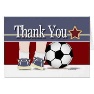 Obrigado modelo do cartão do futebol