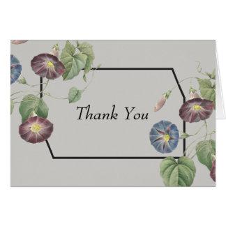 Obrigado moderno da corriola da herança você cartão