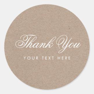Obrigado moderno rústico simples você etiqueta adesivo