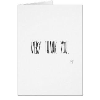 Obrigado muito cartão comemorativo