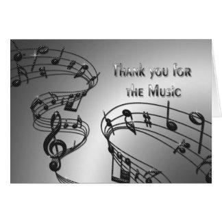 Obrigado - música - notas - Musical Cartões