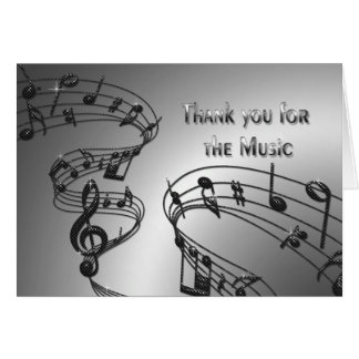 Obrigado - música - notas - Musical Cartão Comemorativo