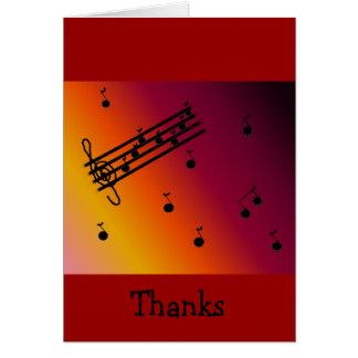Obrigado musical legal você cartão de nota