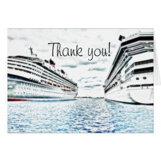 Obrigado náutico das férias | do cruzeiro você cartão de nota