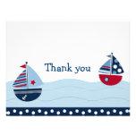 Obrigado náutico do veleiro ausente da vela você c convites