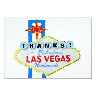 Obrigado Newlyweds de Las Vegas Convite Personalizado