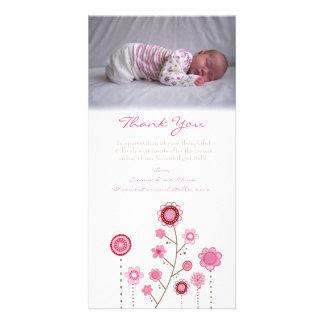 Obrigado notar o modelo do cartão com fotos do beb