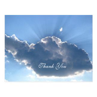 Obrigado nublar-se o cartão cartão postal