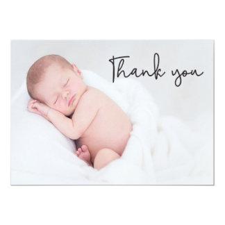Obrigado o anúncio do nascimento e do bebê,