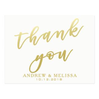 Obrigado o cartão de | branco & do falso do ouro