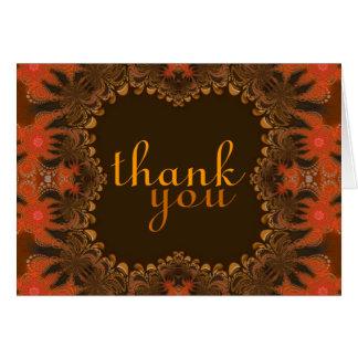 Obrigado orgânico da arte você cartão de Gracias