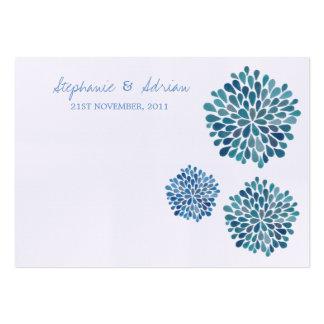 Obrigado ou apresente dálias do azul dos cartões d cartão de visita