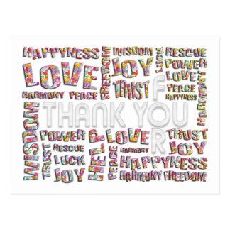 Obrigado para… corações cartão postal